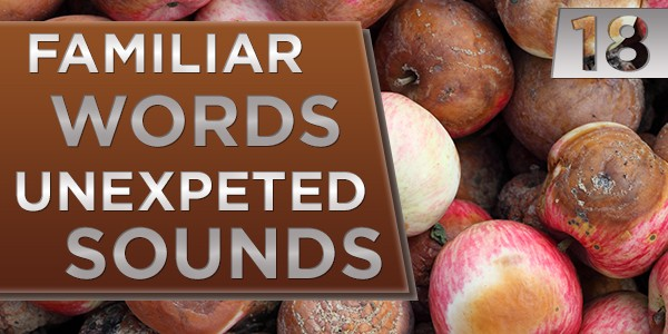 18 Familiar Words, Unexpected Sounds